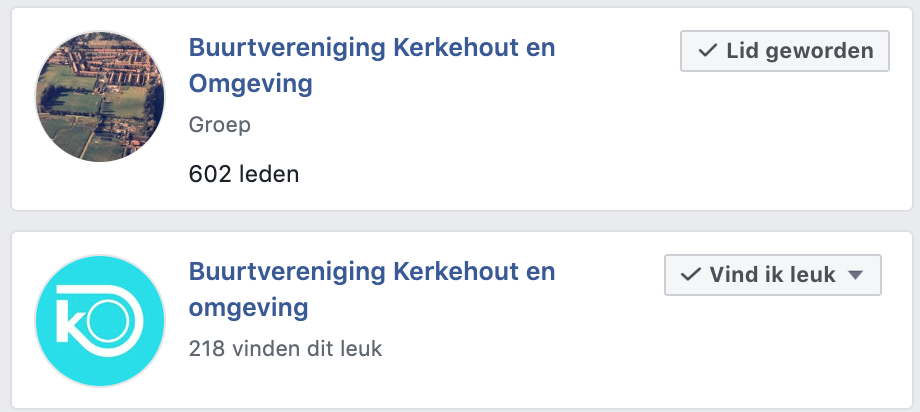 Facebook-verwarring!